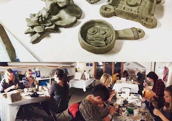 Puff Pass Pottery Denver class group photo!