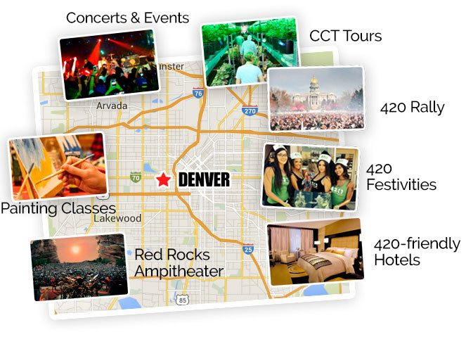Denver 420 Party Festivities Map