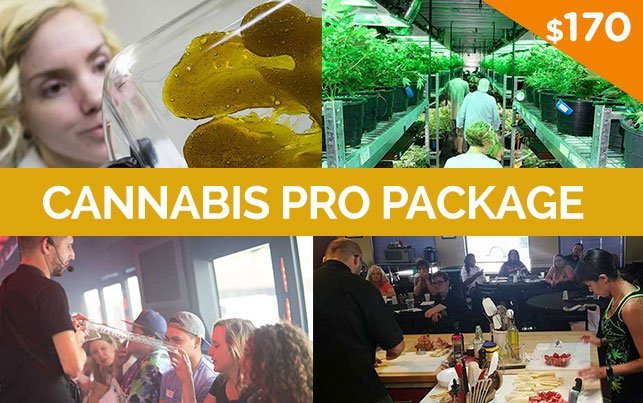 Cannabis Pro Package, Tour, Concentrates Class, Cooking Class