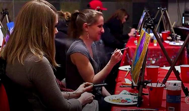 Puff Pass and Paint marijuana friendly art class