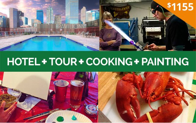 420 Friendly Hotel + CCT Tour + Paint + Cooking Package