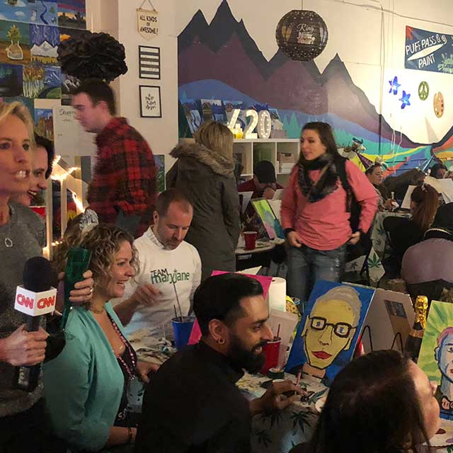 Puff Pass and Paint Denver Class