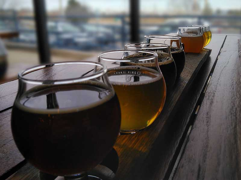 Beer sampler on the 420 Brew Tour