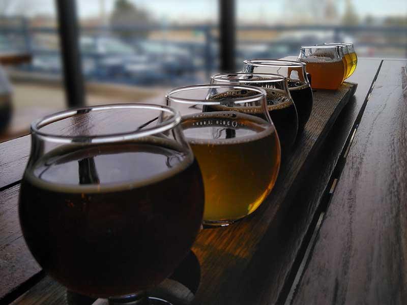 Beer sampler on the 420 Brew Tour