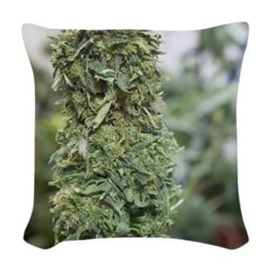 marijuana_woven_throw_pillow