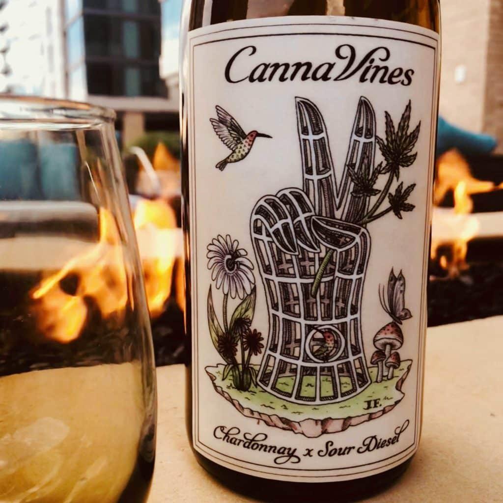 CannaVines marijuana infused Chardonnay wine