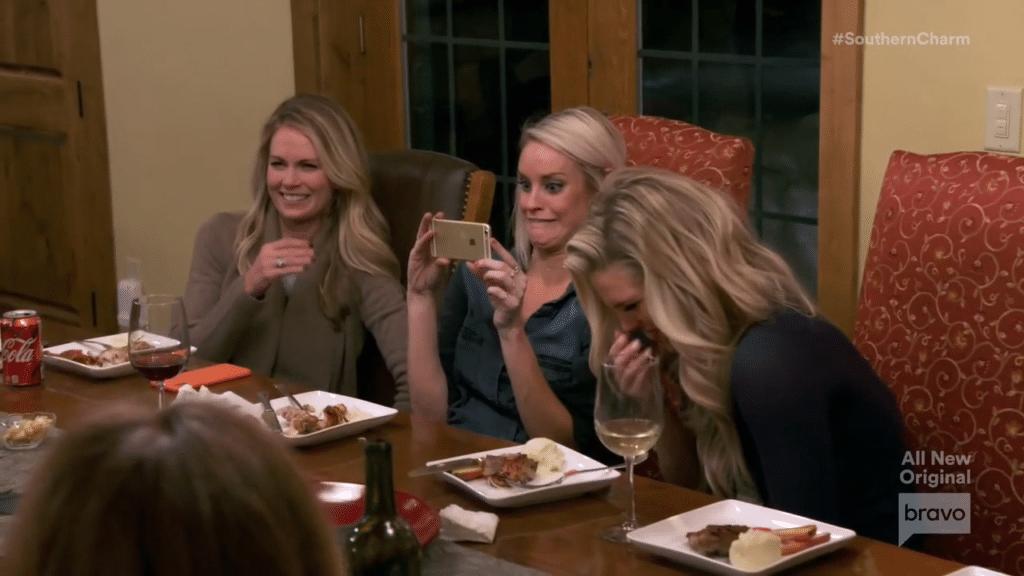 Bravo Southern Charmed girls enjoying the infused marijuana party